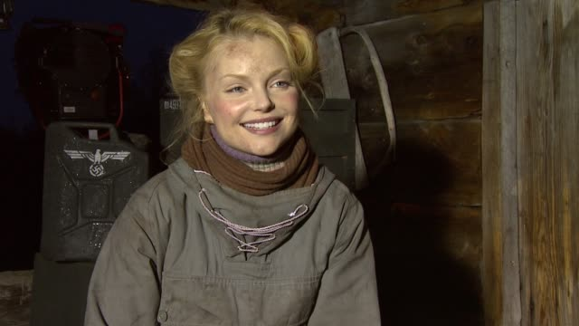 Izabella Miko on her character being mysterious in the movie at the Age of Heroes Set Visit at Haugesund