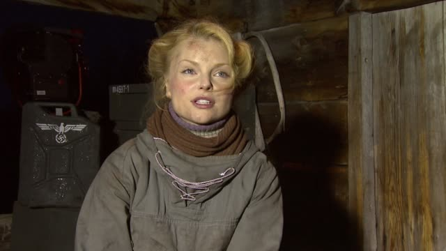 Izabella Miko on how it's been to be filming on the locations of the real story at the Age of Heroes Set Visit at Haugesund