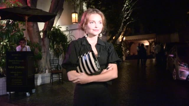 Izabella Miko on Katy Perry's Roar video with animals vs PETA at Chateau Marmont at Celebrity Sightings in Los Angeles Izabella Miko on Katy Perry's...