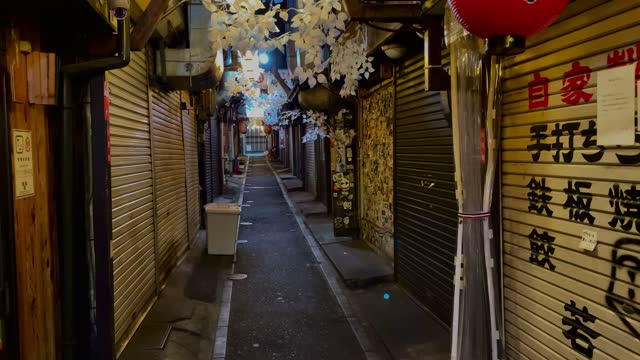 izakayas are closed after adhering to a government request to cease business at 8pm, on january 15, 2021 in tokyo, japan. japans prime minister... - tokyo japan stock videos & royalty-free footage