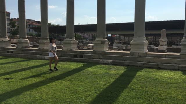 izmir agora roman ruins, aegean turkey - izmir stock videos & royalty-free footage