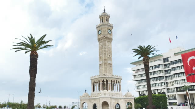 izmir clock tower - izmir stock videos & royalty-free footage