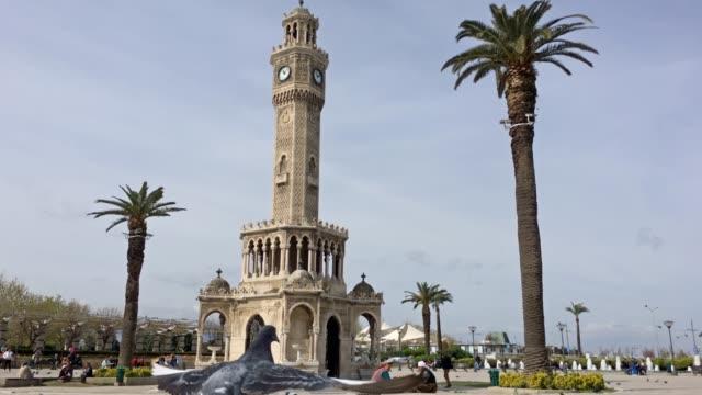 izmir clock tower - clock tower stock videos & royalty-free footage