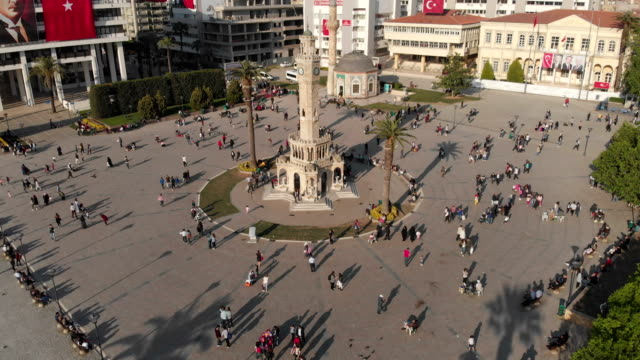 izmir clock tower - turchia video stock e b–roll