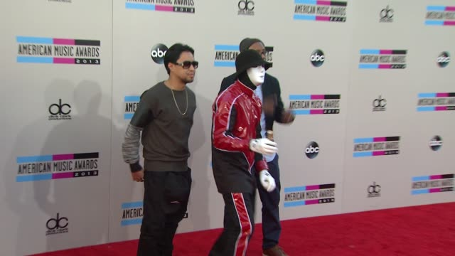jabbawockeez arrives at the 2013 american music awards arrivals - 2013 american music awards stock videos & royalty-free footage