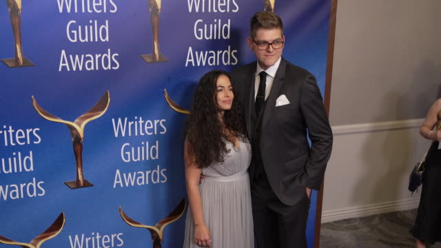 jacey heldrich at the 2020 writers guild awards at the beverly hilton hotel on february 01, 2020 in beverly hills, california. - the beverly hilton hotel stock videos & royalty-free footage