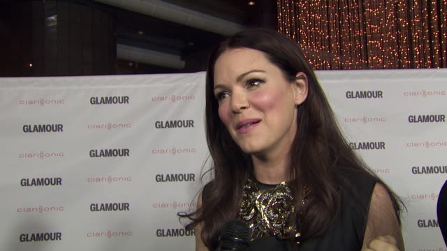 Jacinda Barrett on her film on Glamour on women at the 2011 Glamour Reel Moments Premiere Presented By Clarisonic at Los Angeles CA