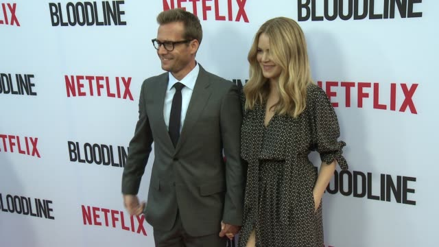 Jacinta Barrett and Gabriel Macht at the Netflix's Bloodline Season 3 Red Carpet at ArcLight Cinemas on May 24 2017 in Culver City California