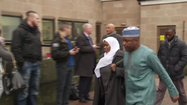 doctor and nurse avoid jail after being found guilty of manslaughter england ext doctor hadiza bawagarba along with unidentified man - gefängnisausbruch stock-videos und b-roll-filmmaterial