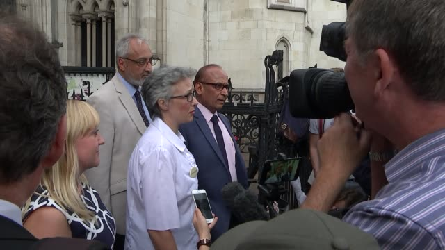 Struckoff doctor wins appeal to work again after crowdfunded campaign ENGLAND London Royal Courts of Justice EXT Dr Jenny Vaughan speaking to press