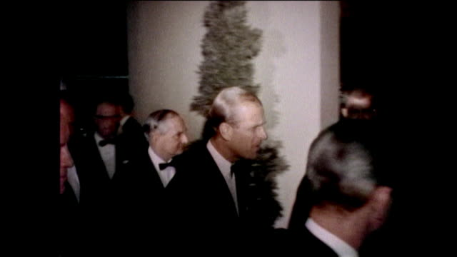 jack benny danny kaye bob hope laughing at a table prince phillip laughing with natalie wood van heflin and jerry lewis jack warner charlton heston... - century city stock-videos und b-roll-filmmaterial