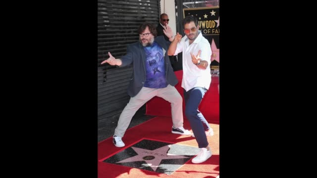 Jack Black and Eli Roth participate in Jack Black's Star Ceremony On The Hollywood Walk Of Fame held on September 18 2018 in Hollywood California