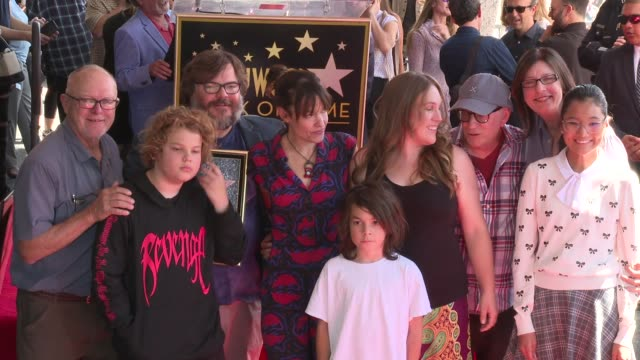 jack black and his family at the jack black honored with a star on the hollywood walk of fame on september 18 2018 in hollywood california - jack black stock videos & royalty-free footage