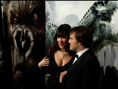 Jack Black and Tanya Haden at the 'King Kong' New York Premiere at Loews EWalk and AMC Empire Cinemas in New York New York on December 5 2005