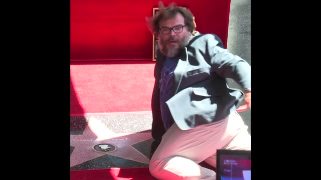 jack black at jack black honored with a star on the hollywood walk of fame - jack black stock videos & royalty-free footage