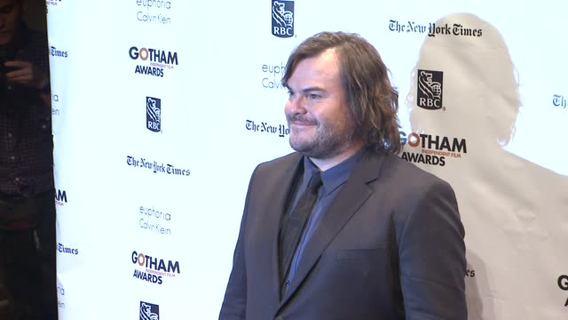 jack black at the 22nd annual gotham independent film awards at cipriani wall street on november 26 2012 in new york new york - jack black stock videos & royalty-free footage