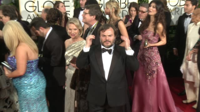 Jack Black at the 72nd Annual Golden Globe Awards Arrivals at The Beverly Hilton Hotel on January 11 2015 in Beverly Hills California