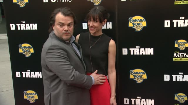 vídeos de stock, filmes e b-roll de jack black at the d train los angeles premiere at arclight cinemas on april 27 2015 in hollywood california - arclight cinemas hollywood