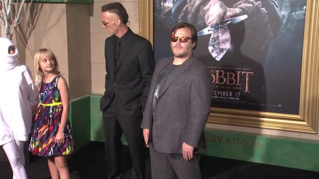 "jack black at ""the hobbit: the battle of the five armies"" los angeles premiere at dolby theatre on december 09, 2014 in hollywood, california. - the hobbit: the battle of the five armies stock videos & royalty-free footage"