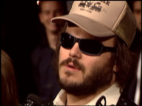 jack black at the los angeles lakers youth foundation at barker hanger in santa monica california on april 8 2004 - jack black stock videos & royalty-free footage