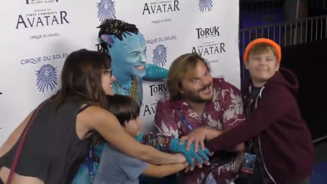 jack black at the opening night of 'toruk the first flight' by cirque du soleil at staples center in los angeles at celebrity sightings in los... - jack black stock videos & royalty-free footage