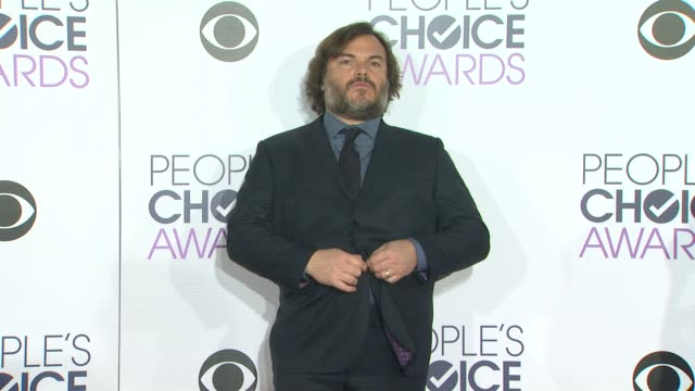 jack black at the people's choice awards 2016 at nokia plaza la live on january 6 2016 in los angeles california - jack black stock videos & royalty-free footage