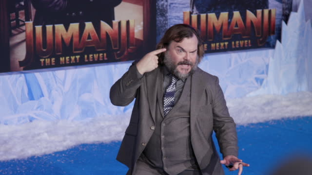 jack black at the premiere of jumanji the next level on december 09 2019 in hollywood california - jack black stock videos & royalty-free footage