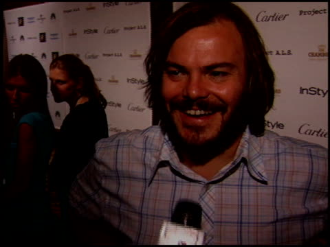 jack black at the project als benefit gala at the century plaza hotel in century city, california on may 6, 2005. - century plaza stock videos & royalty-free footage