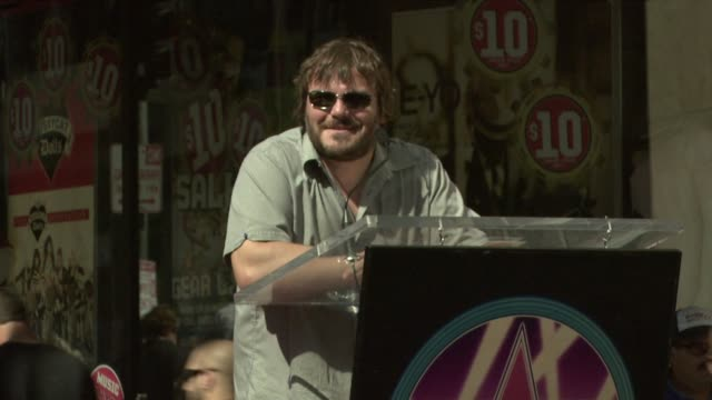 Jack Black at the Tim Robbins Receives a Star on the Hollywood Walk of Fame at Los Angeles CA