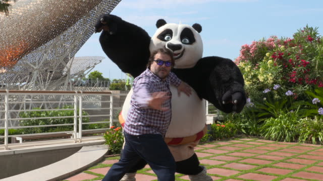 Jack Black attends a press presentation of Kung Fu Panda 3 at the Hotel Arts on June 23rd 2015 in Barcelona Spain