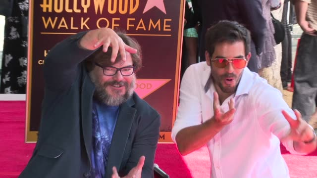 Jack Black Eli Roth at Jack Black Honored with a Star on the Hollywood Walk of Fame