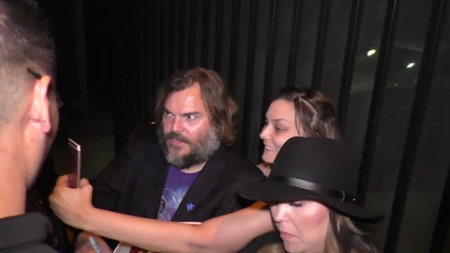 jack black on tenacious d at the pantages theatre in hollywood at celebrity sightings in los angeles on may 21, 2016 in los angeles, california. - tenacious d stock videos & royalty-free footage