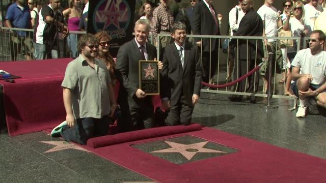 Jack Black Susan Sarandon Tim Robbins at the Tim Robbins Receives a Star on the Hollywood Walk of Fame at Los Angeles CA