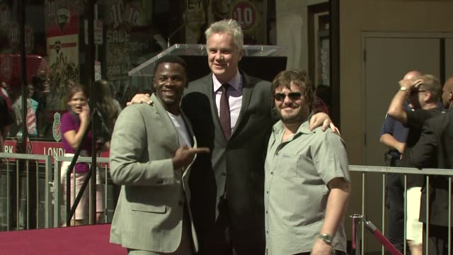 Jack Black Tim Robbins Derek Luke at the Tim Robbins Receives a Star on the Hollywood Walk of Fame at Los Angeles CA