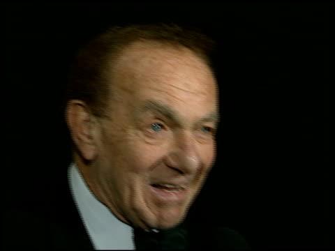 Jack Carter at the Sheba Award Honoring Fran Drescher at the Regent Beverly Wilshire Hotel in Beverly Hills California on October 15 1996