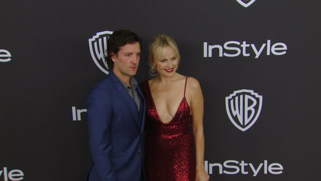 jack donnelly and malin åkerman at the warner bros. and instyle host 20th annual post-golden globes party at the beverly hilton hotel on january 06,... - malin åkerman stock videos & royalty-free footage