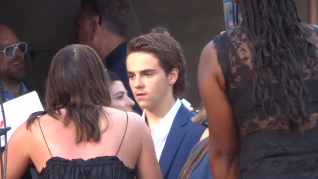 jack dylan grazer outside the it 2 premiere at bruin theatre in westwood in celebrity sightings in los angeles - bruin theater stock videos & royalty-free footage
