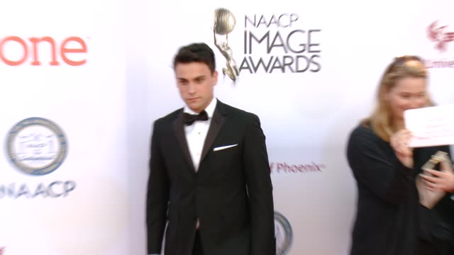 stockvideo's en b-roll-footage met jack falahee at the 46th annual naacp image awards - arrivals at pasadena civic auditorium on february 06, 2015 in pasadena, california. - pasadena civic auditorium
