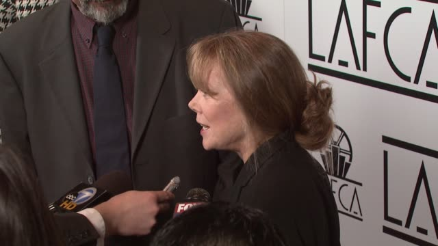 jack fisk and sissy spacek at the film critics awards at intercontinental in los angeles, california on january 12, 2008. - sissy spacek stock videos & royalty-free footage