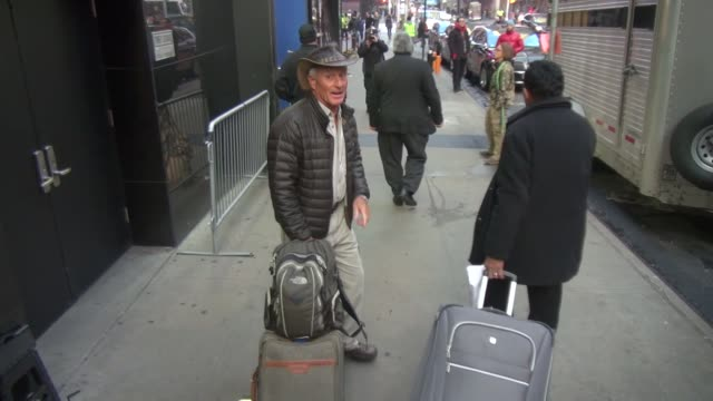 jack hanna with a reindeer named rudoff outside of the 'good morning america' show in celebrity sightings in new york, - jack hanna stock-videos und b-roll-filmmaterial