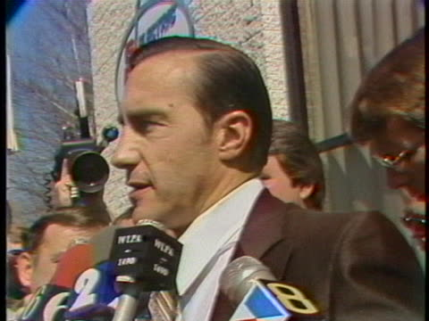 jack herbein of metropolitan edison speaks to reporters about the nuclear-power emergency at three mile island. - 1970 1979 stock videos & royalty-free footage