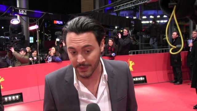 jack huston at the premiere of 'night train to lisbon' at the 63rd berlinale international film festival. jack huston at the premiere of 'night train... - jack buchanan stock videos & royalty-free footage