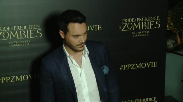 Jack Huston at the 'Pride And Prejudice And Zombies' Los Angeles Premiere at Harmony Gold Theater on January 21 2016 in Los Angeles California
