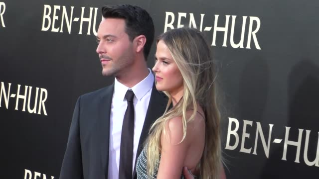 jack huston shannan click at the premiere of paramount pictures' benhur at tcl chinese theatre in celebrity sightings in los angeles - paramount pictures stock videos and b-roll footage