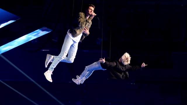 GIF Jack Jack perform at the MTV EMAs 2018 on November 4 2018 in Bilbao Spain