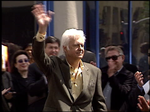 jack jones at the bob hope honored with hollywood walk of fame plaque at hollywood boulevard in hollywood, california on april 15, 2003. - ボブ ホープ点の映像素材/bロール