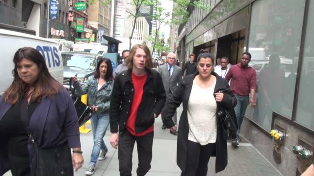 Jack Kilmer son of Val Kilmer Joanne Whalley walking into the Today show in Rockefeller Center in Celebrity Sightings in New York