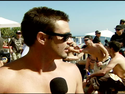 jack kingsley discusses being a bra boy currently being a stuntman and the house at the bra boys bbq presented by anheuserbusch at polaroid beach... - anheuser busch inbev stock videos and b-roll footage
