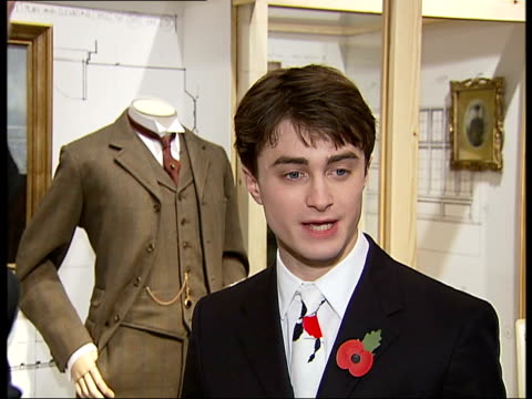 jack kipling exhibition at imperial war museum general views interviews and photocalls with stars of 'my boy jack' daniel radcliffe and david haig... - john fortune stock-videos und b-roll-filmmaterial