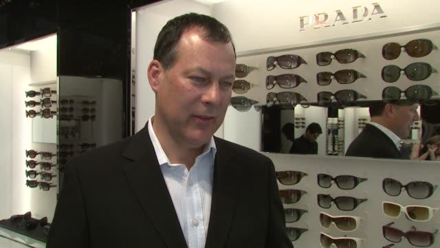 jack krause talks about the impetus for the special concept boutique, if this pairing is a new retail trend, the plan behind the rediesign of the... - audio available video stock e b–roll